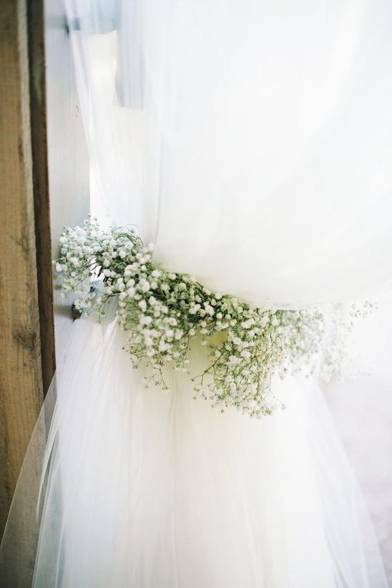 подхваты штор цветами