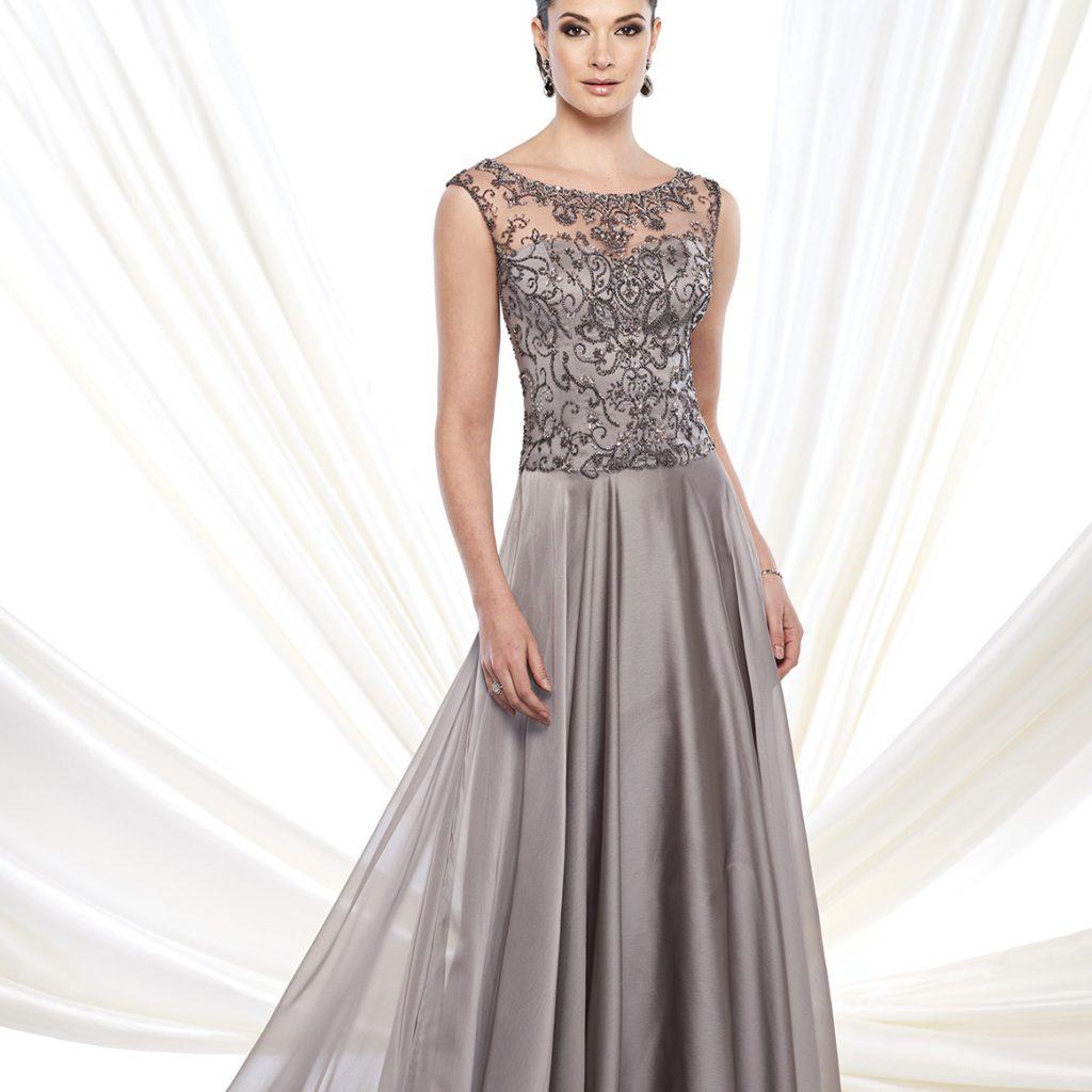 платье оттенка олово