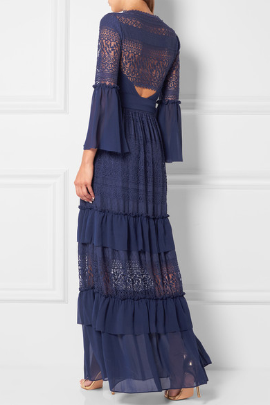платье в пол цвета индиго
