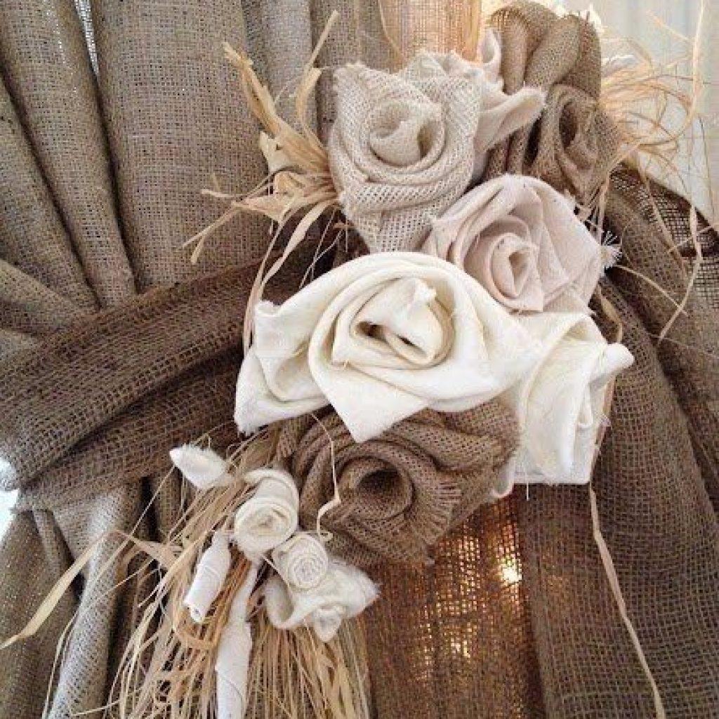 розы из ткани diy сделай сам