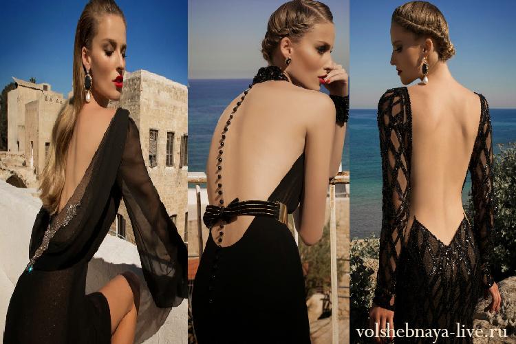 вечерние платья с открытой спиной фото