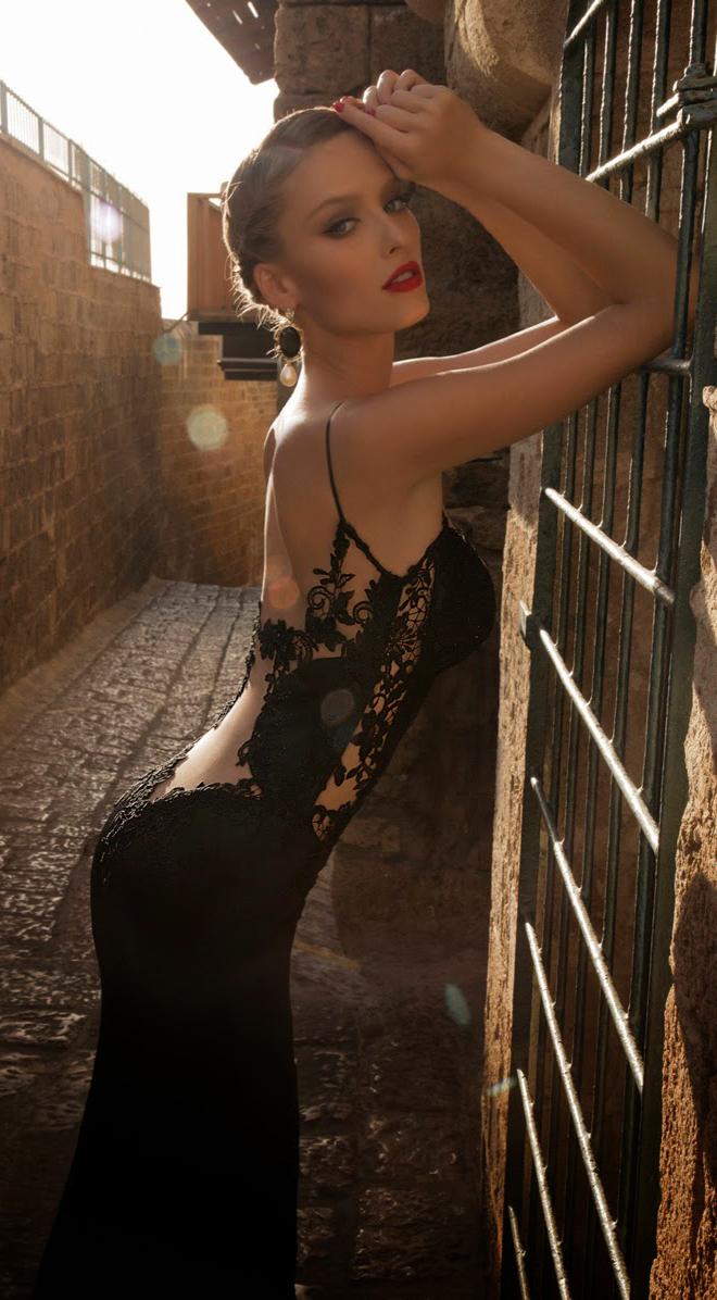 платье вечернее с кружевной открытой спиной