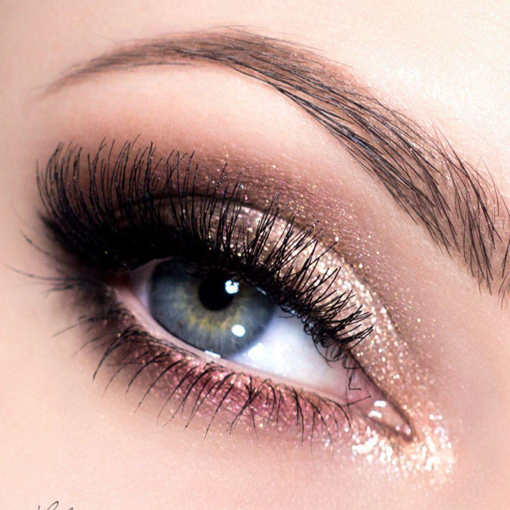 дневной макияж нависшее веко коричнево золотой фото