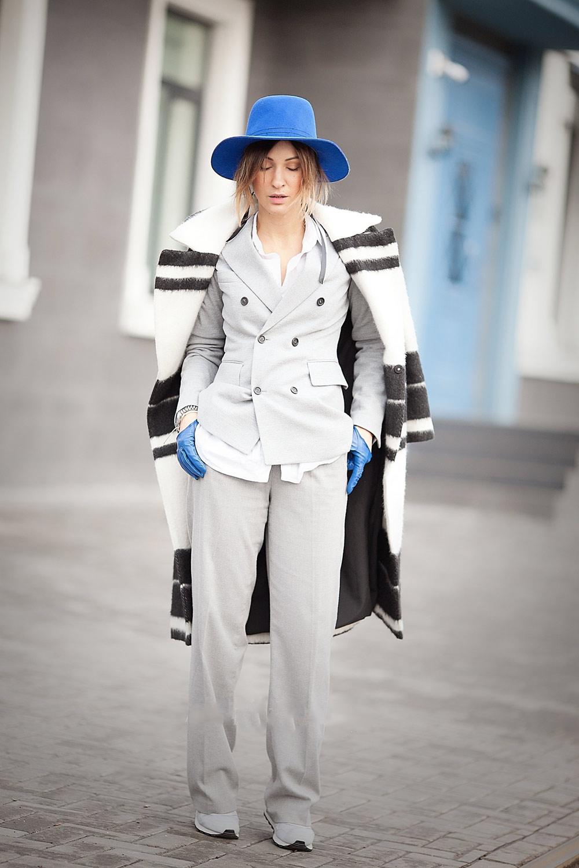 образ пальто и шляпа