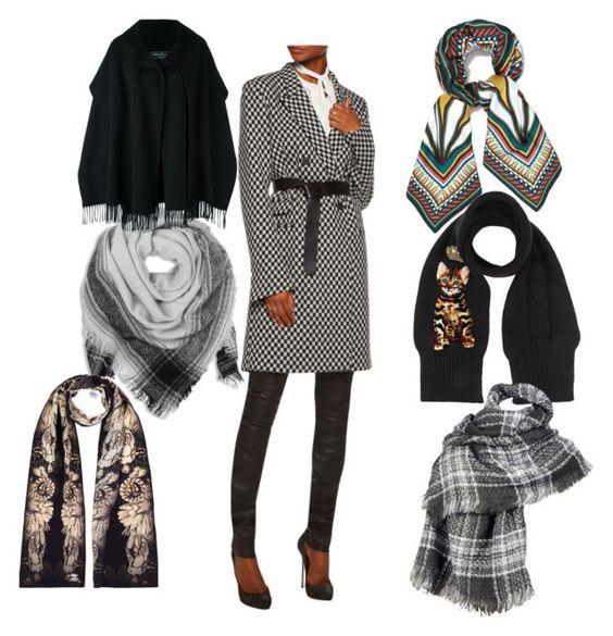 к серому пальто какой цвет шарфа