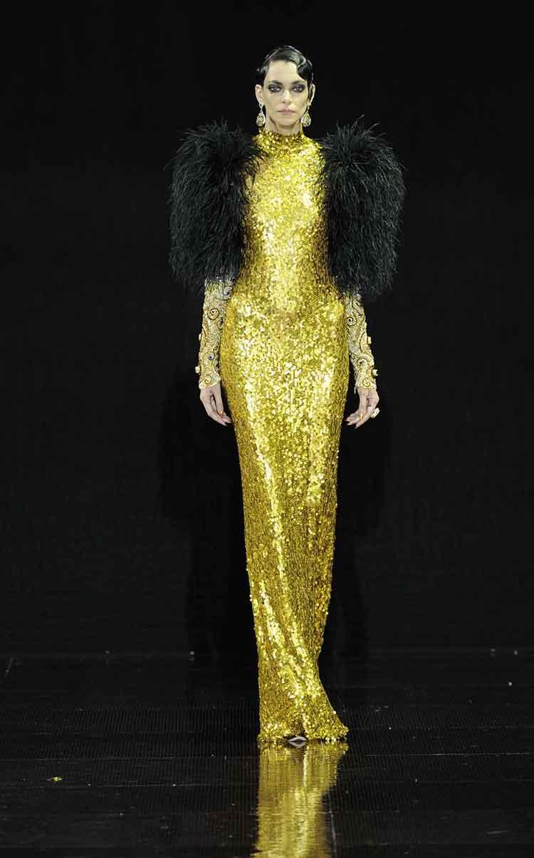 золотое платье бал длинное фото