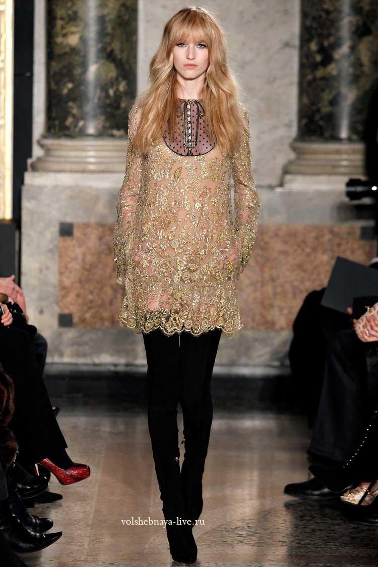 коктейльное платье золото