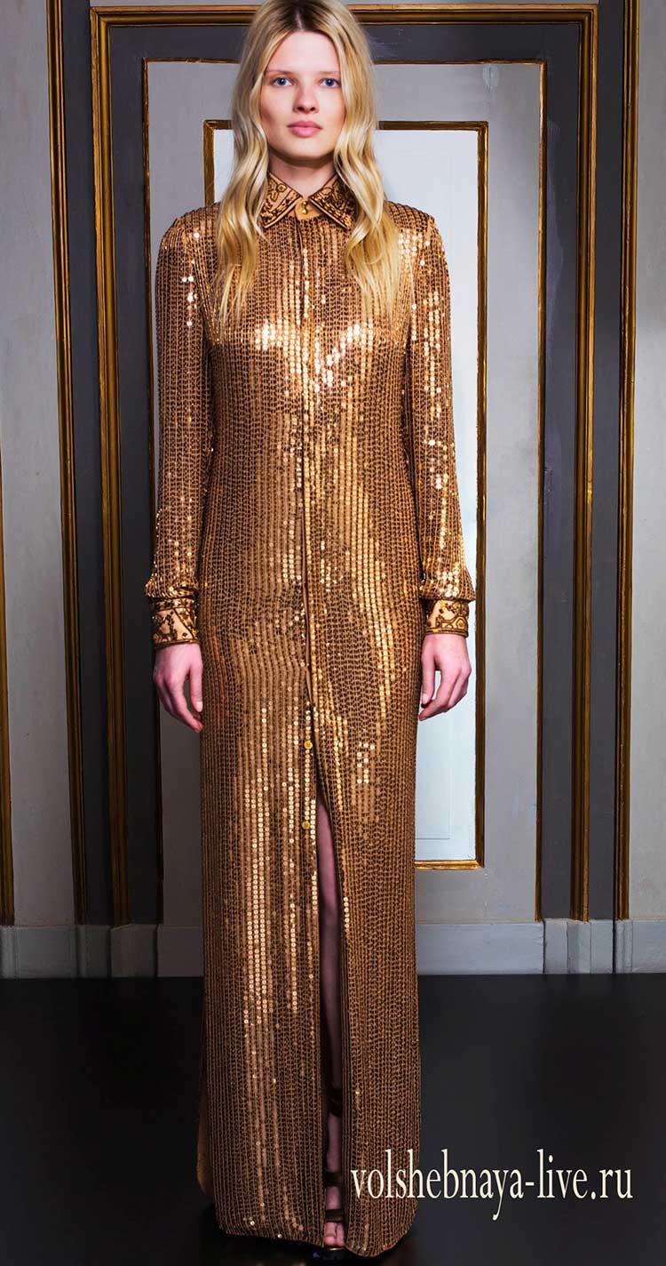 Макси платье с пайетками