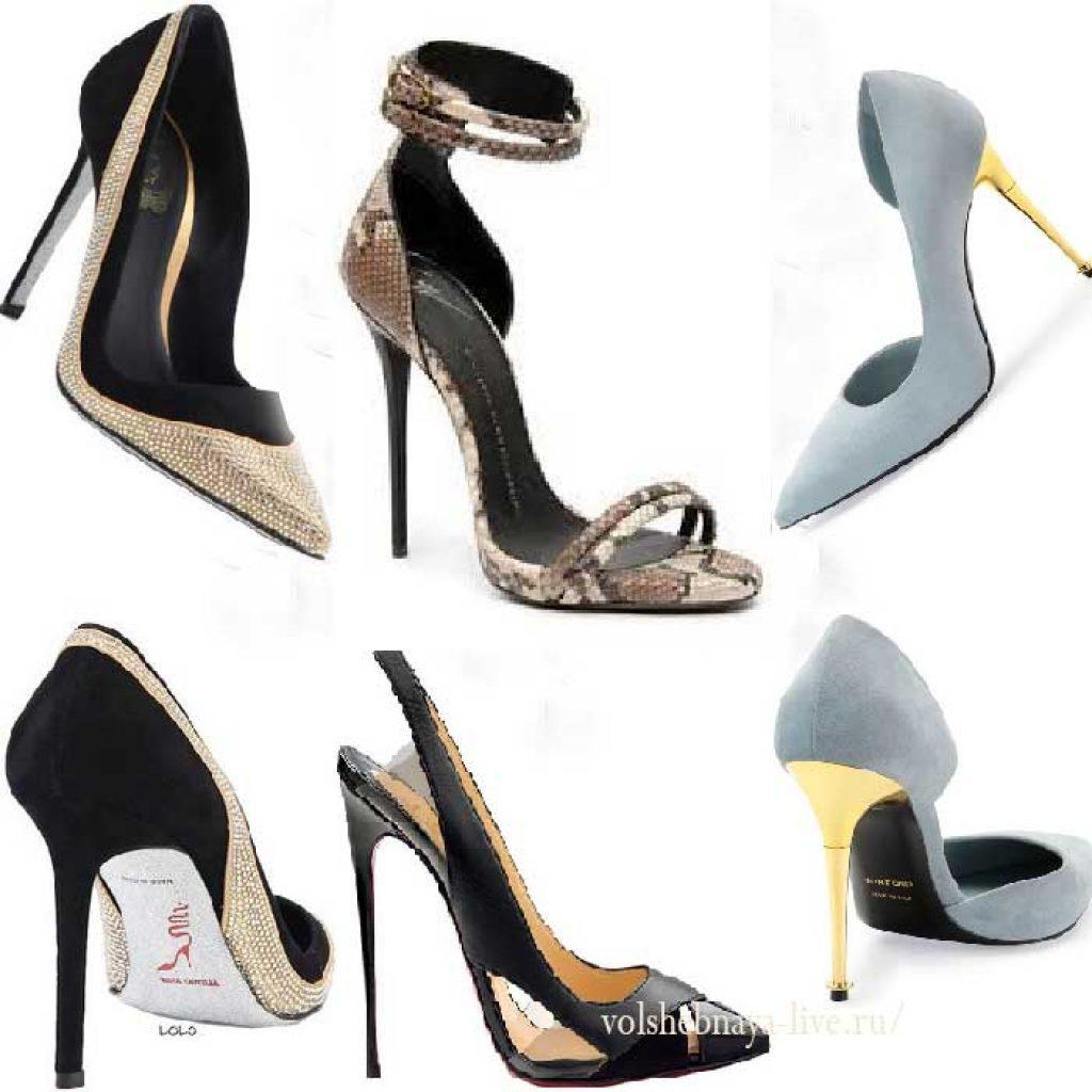 Модные женские туфли и босоножки на шпильке 2017
