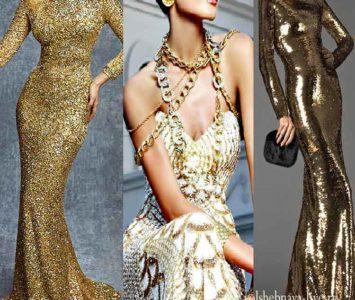 Золотое платье с пайетками — мега роскошь. Обзор с фото.