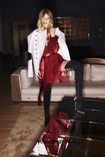 alexandre vauthier ready to wear Бордовое платье из органзы