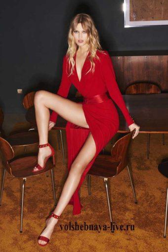 ready to wear зима 2017, красное платье мини от Александра Вотье