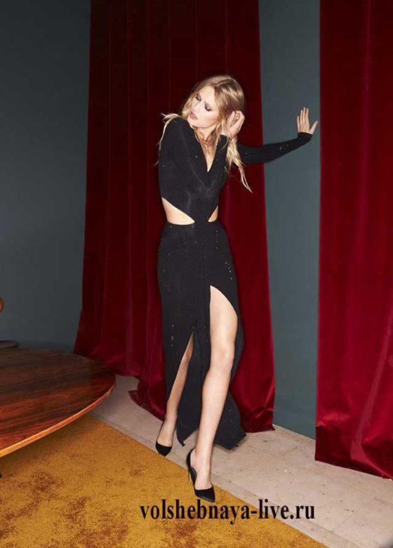 ready to wear зима 2017 Alexandre Vauthier, Платье черное с вырезами