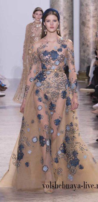 Saab вечернее платье из коллекции Couture  2017