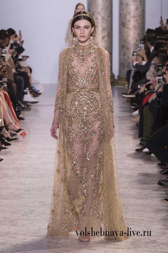 Elie Saab вечернее платье из коллекции Couture Весна 2017