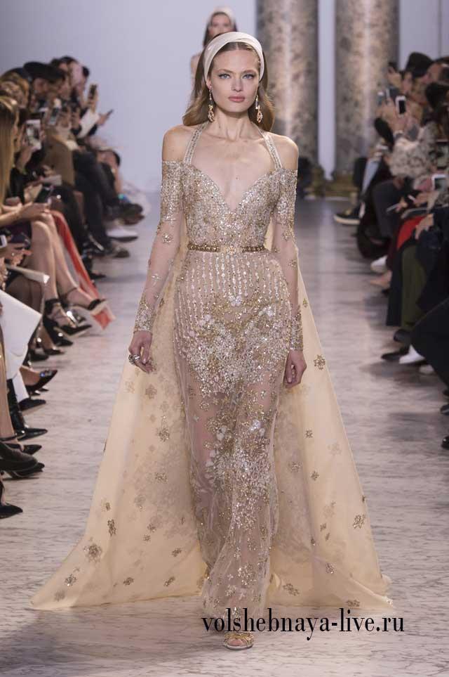 Вечерние платья Сааб показ Высокой моды весна 2017