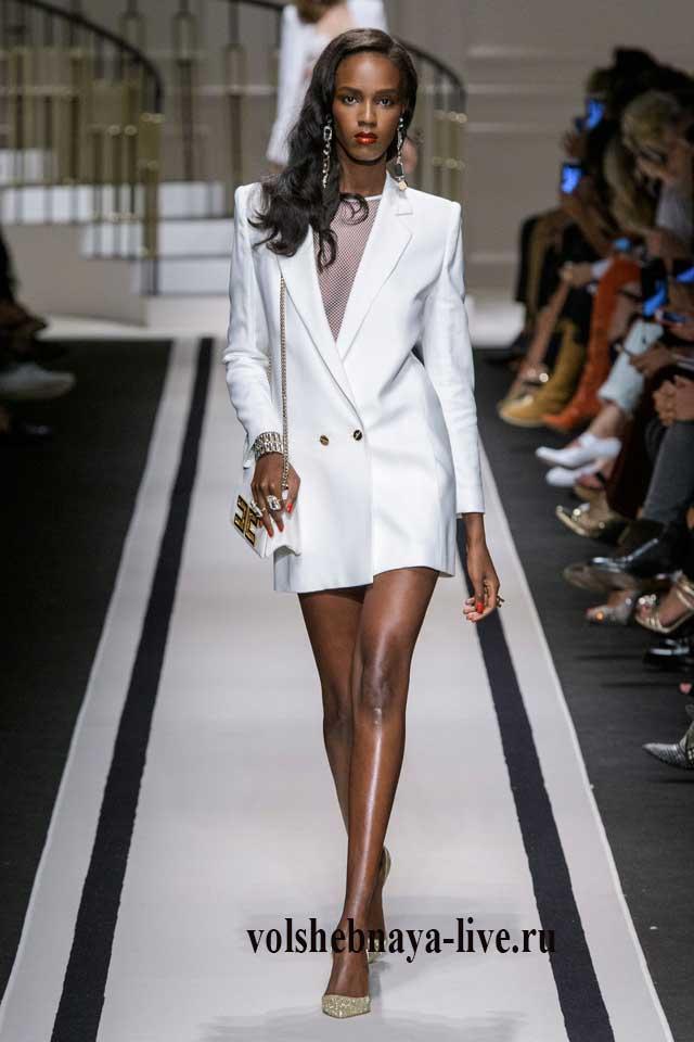 Elisabetta Franchi белое платье пиджак