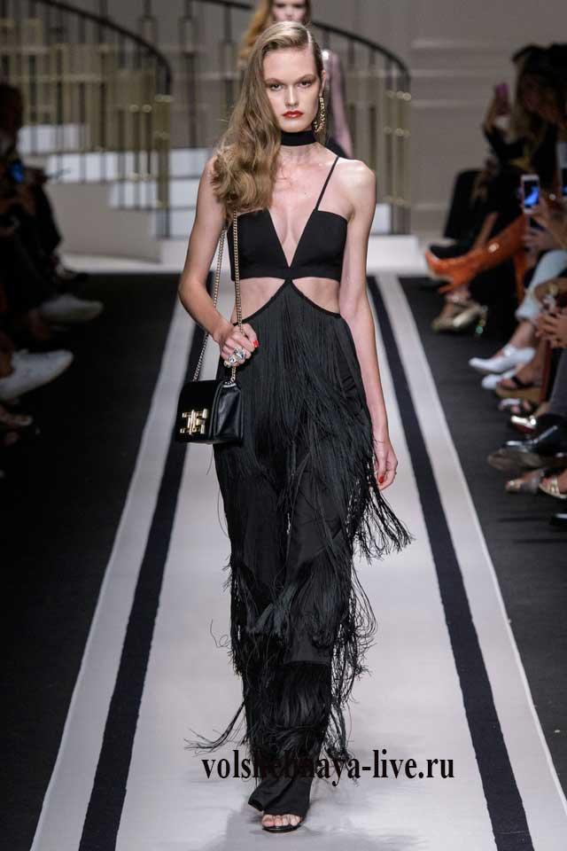 Elisabetta Franchi платье в стиле диско с бахромой