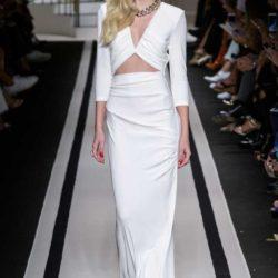 Elisabetta Franchi платье макси обтягивающее белого цвета