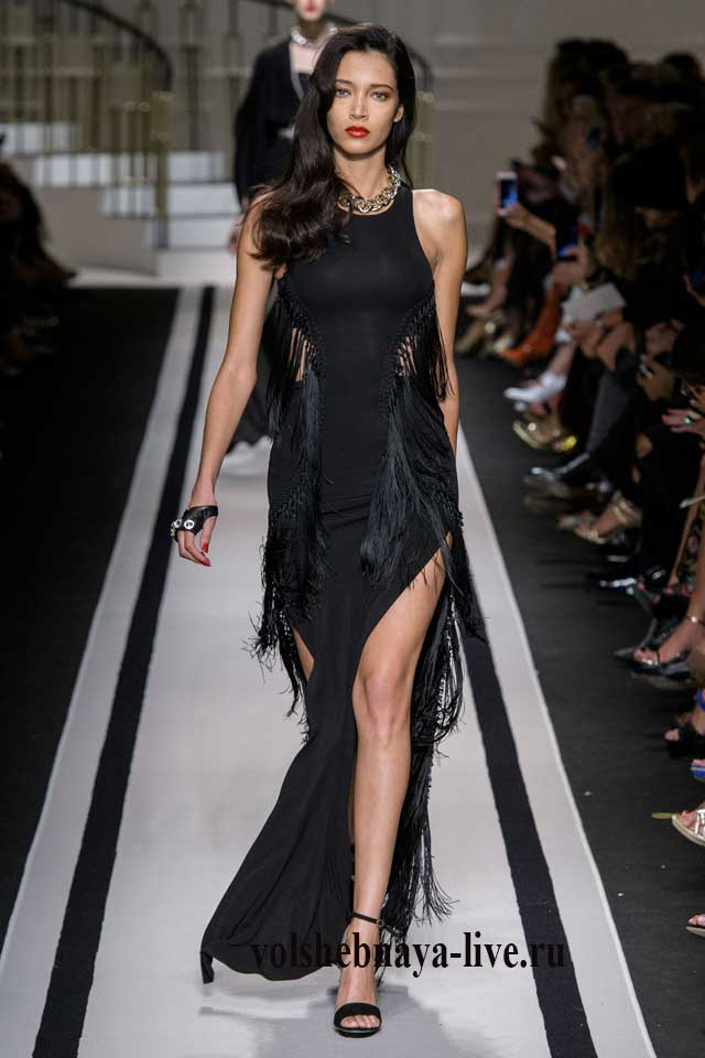 Elisabetta Franchi платье в пол с разрезом по ноге, черного цвета