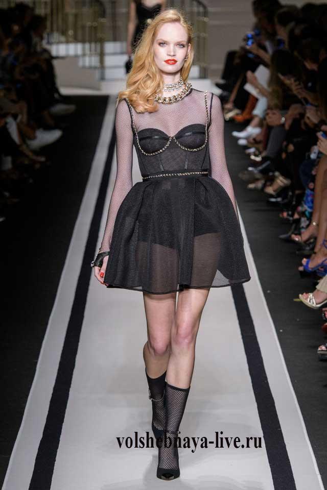 Классическое черное платье от Итальянского дизайнера весна 2017