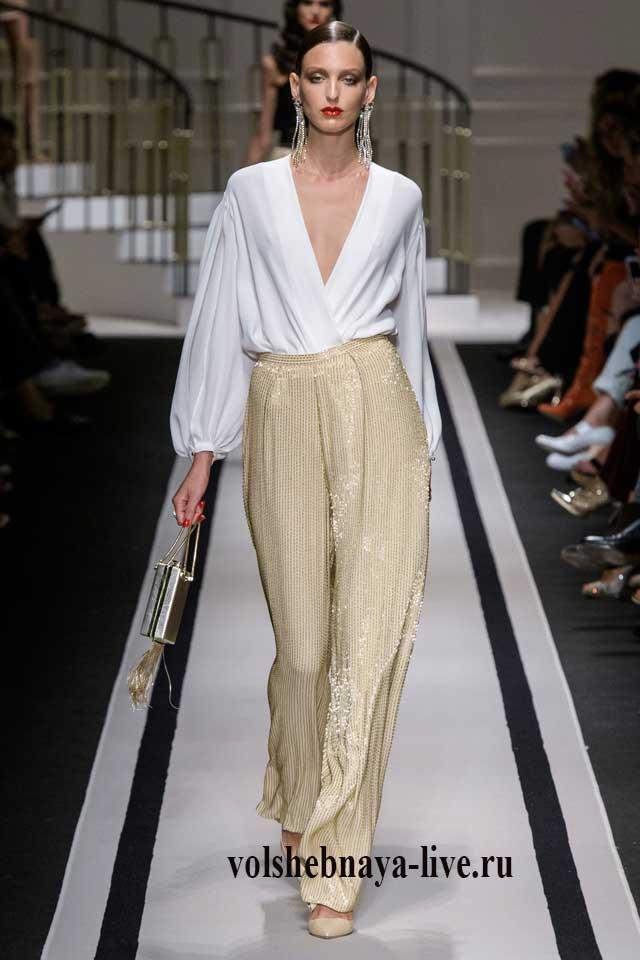 Шикарные брюки и белая блузка