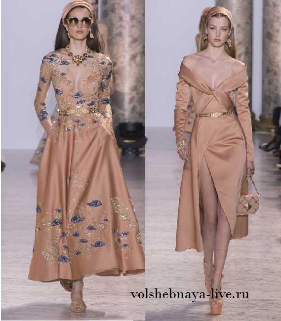 Персиковый цвет, изысканно смотрится в вечерних убранствах Elie Saab Couture Весна-лето 2017