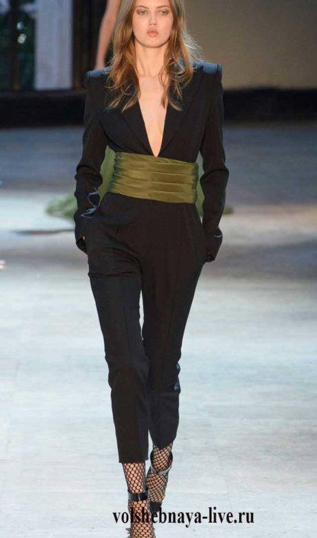 Зима 2017 Alexandre Vauthier Haute Couture, черный деловой комбинезон