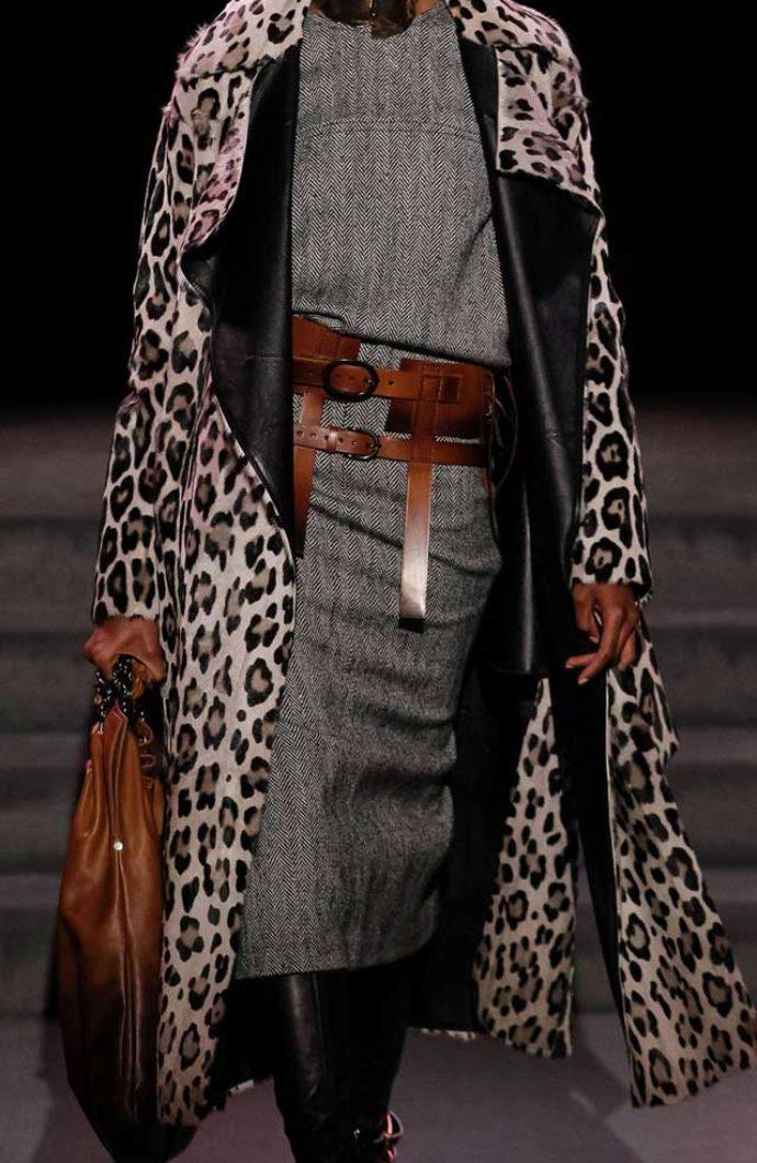 Шикарное пальто в леопардовом цвете Том Форд осень-зима 2017