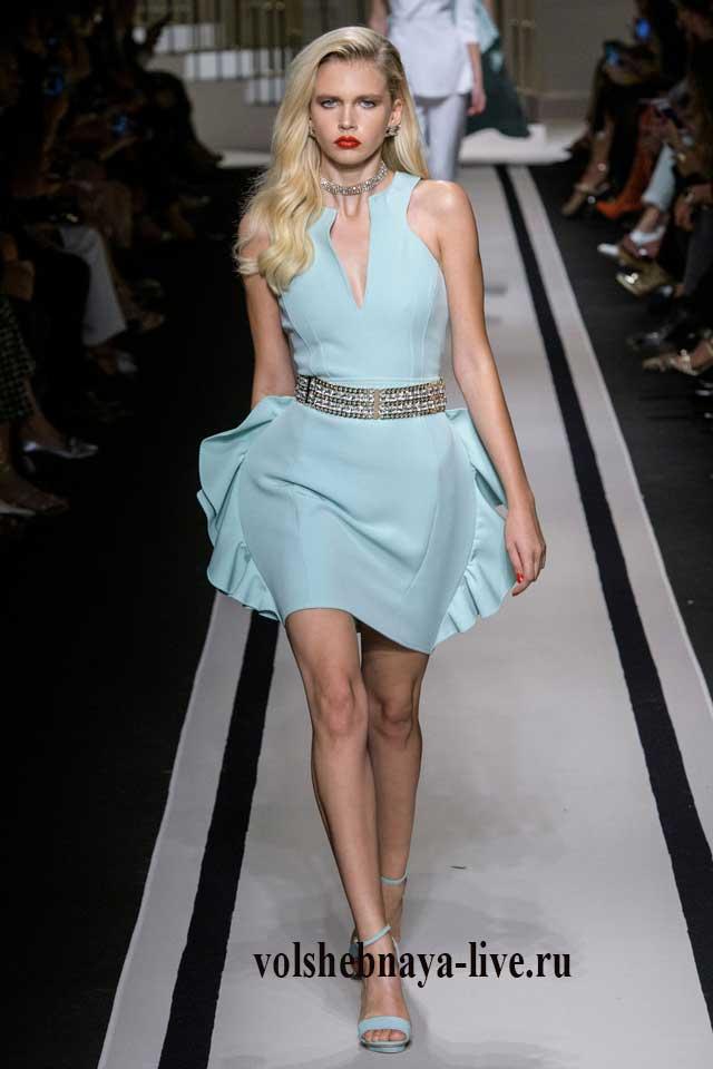 Elisabetta Franchi мини платье мятного цвета