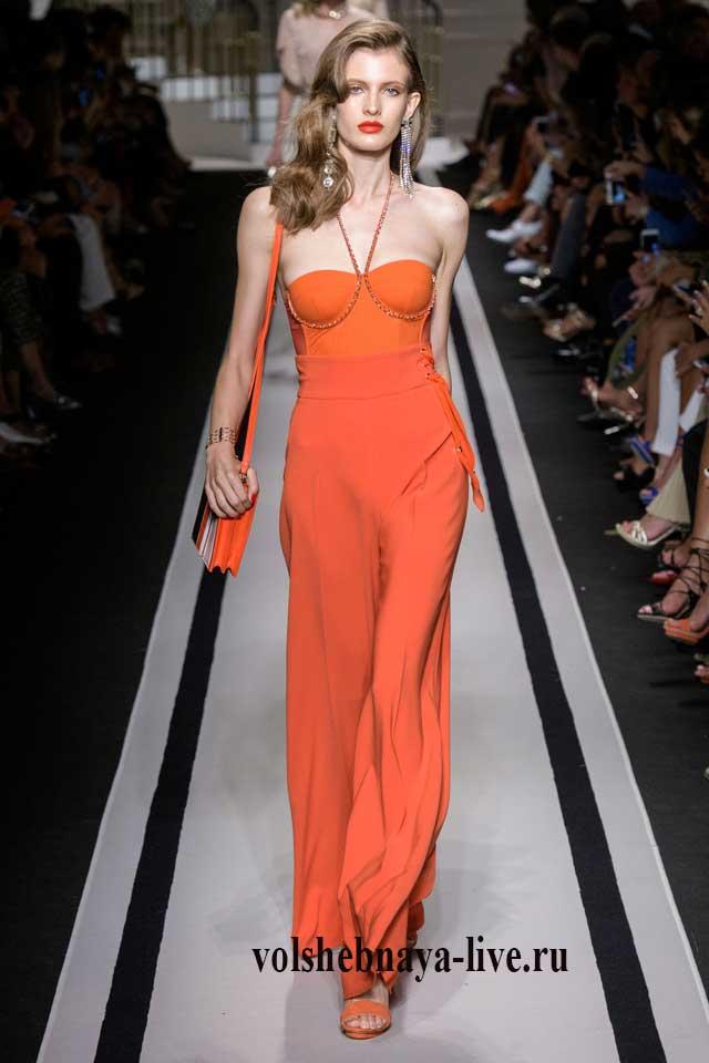 Коралловое платье в пол от Элизабета Франчи