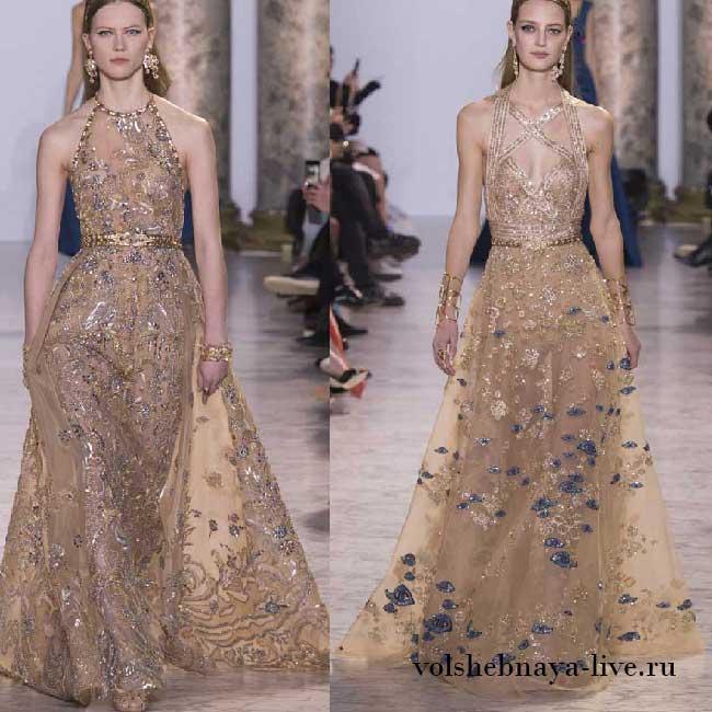 Роскошные платья золотого цвета Шикарная коллекция от Elie Saab Couture Весна-лето 2017