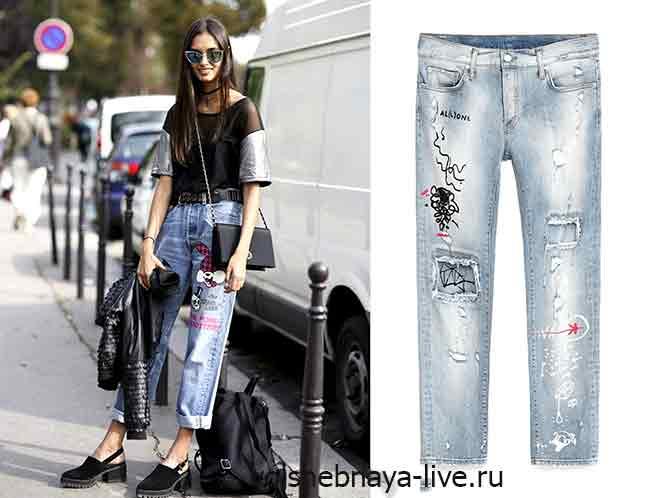 Где купить недорогие джинсы с вышивкой
