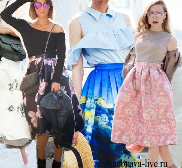 С чем носить юбку с цветами в любое время года