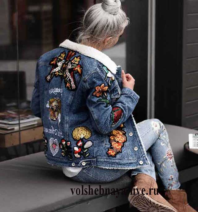 Модная вышивка на куртках 427