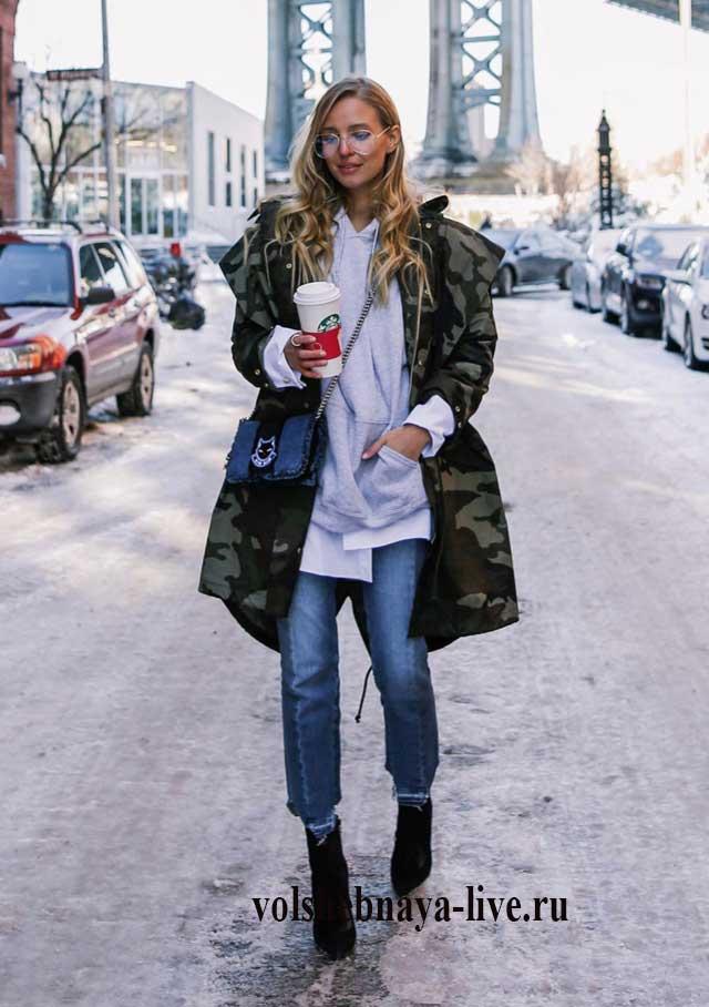 Образ с курткой камуфляж