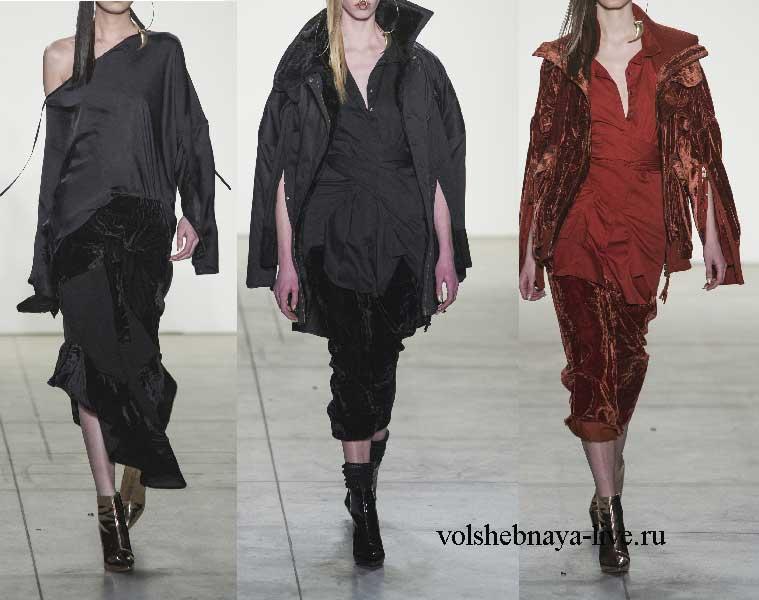 Модные цвета бархатных юбок