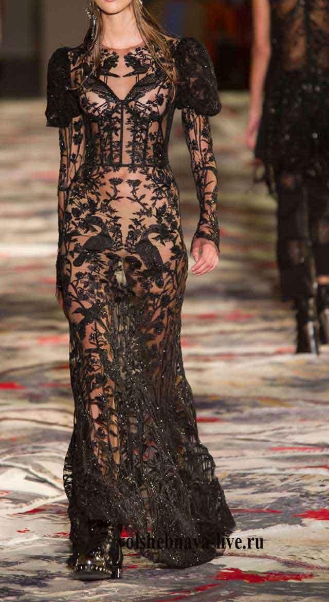 Черное платье прозрачное, Александр Маккуин