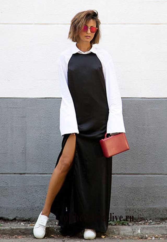 Как одевать платье комбинацию с блузкой