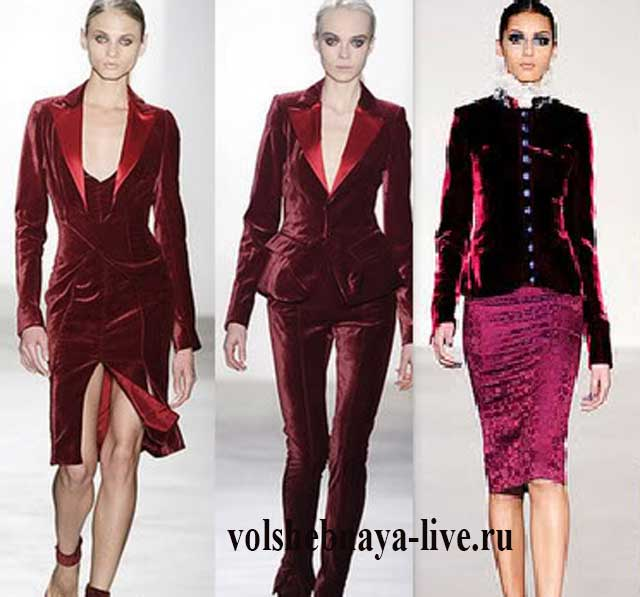 Пиджак из бордового велюра