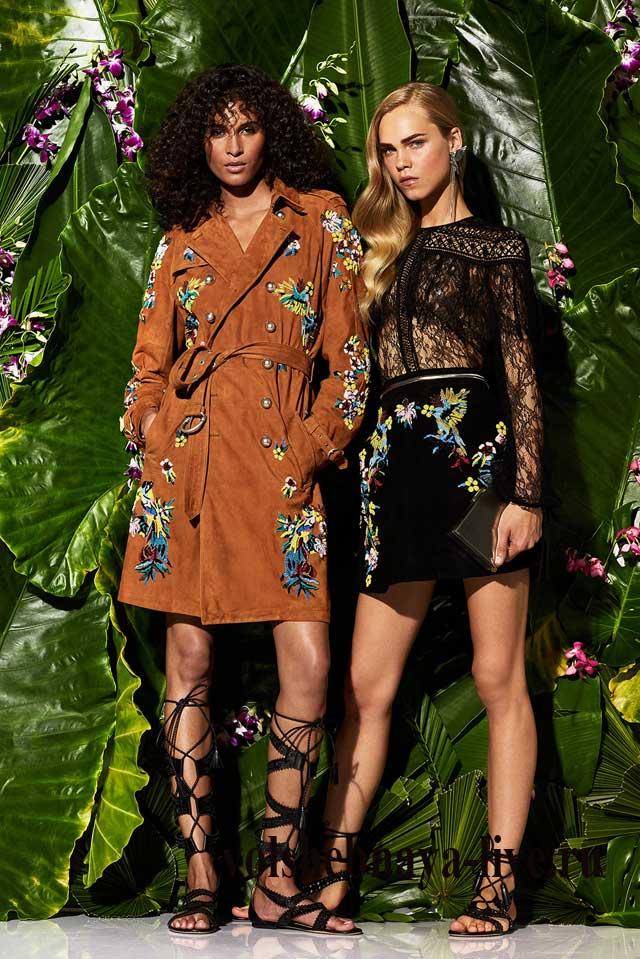 Дизайнерские юбки с цветочной вышивкой
