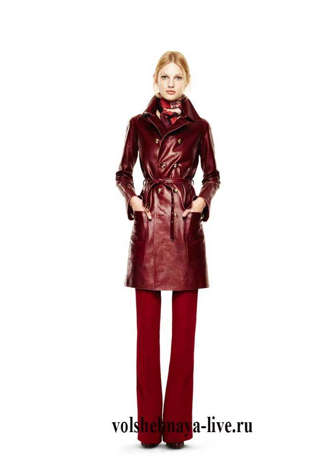 Деловой стиль для осени с бордовыми брюками