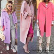 С чем носить розовое пальто модных оттенков и фасонов