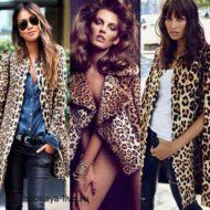 С чем носить леопардовое пальто- выбираем обувь, сумку составляем модные образы