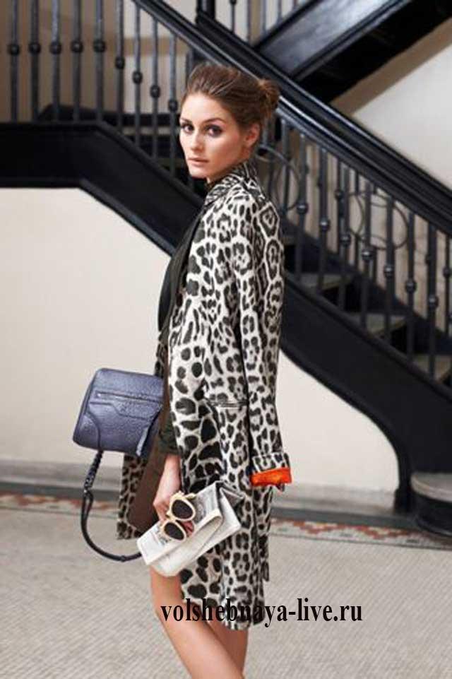 С чем носить леопардовое пальто уличная мода