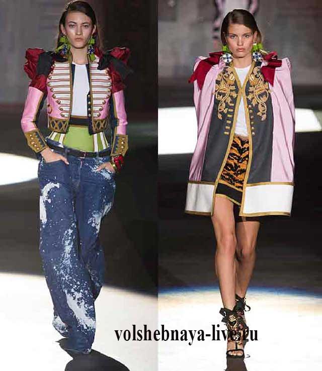 Яркие разноцветные пиджаки в гусарском стиле
