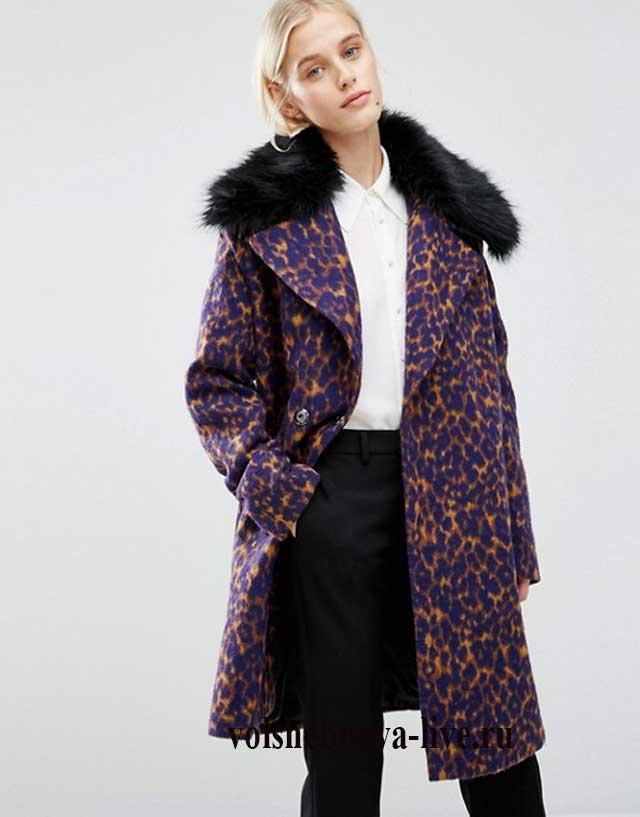 С чем носить леопардовое пальто в офис и на работу.