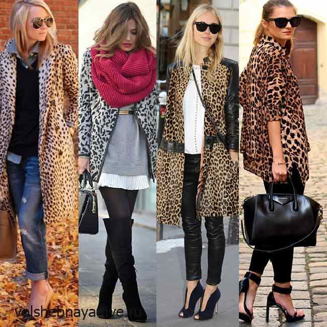 С ботфортами и бежевыми туфлями - обувь под леопардовое пальто
