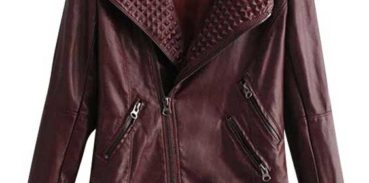 Косуха цвета бордо из кожи с чем носить