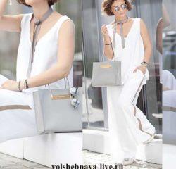 Белоснежный летний образ в брюках с лампасами от Елена Галант